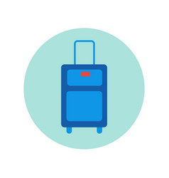 suitcase icon isolated travel baggage case vector image