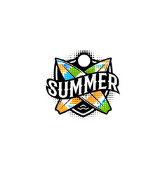 Summer colorful modern logo in a sports style 2 vector