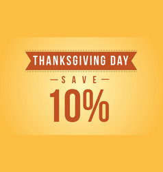 Thanksgiving day yellow background style vector