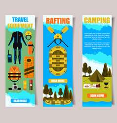Travel banner web template set vector