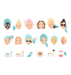 Types procedures for facial rejuvenation and vector