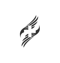 wings and medicine symbol designs vector image