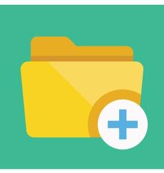 Add Folder Icon vector image vector image