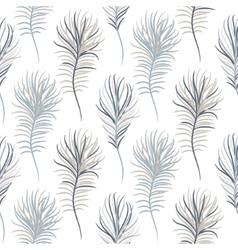 Bird pastel blue seamless pattern vector image