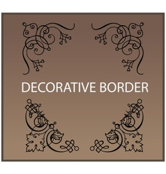 Calligraphic and decor design elements borders vector image
