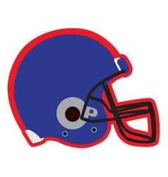 Isolated football helmet vector