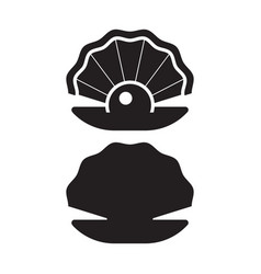 pearl oyster outline icon vector image vector image