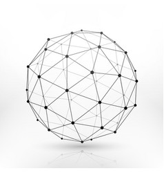 wireframe globe sphere connectivity network tech vector image vector image