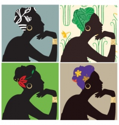 woman in headscarf vector image vector image