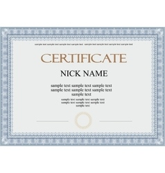certificate diploma for print vector image vector image