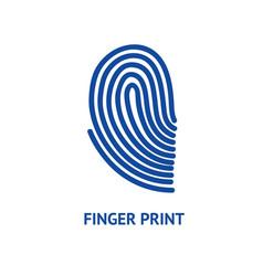 finger print card vector image
