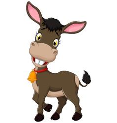 funny donkey cartoon posing vector image vector image