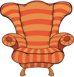Old armchair vector image vector image
