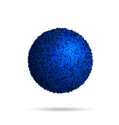 blue fur ball isolated on white vector image
