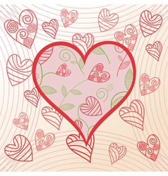 Romantick background hearts vector image