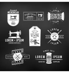 Set of vintage tailor labels emblems and design vector image
