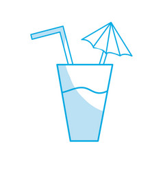 silhouette delicious water glash to refresh the vector image