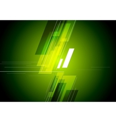 Tech corporate green background vector image vector image