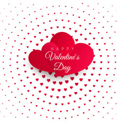 Valentines day greeting card halftone confetti vector