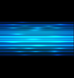 abstract blue light power line fast speed on black vector image