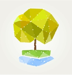 Abstract green tree triangles vector