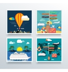 Air Tourism and World Travel Concept vector