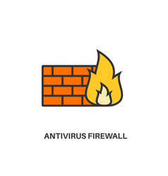 antivirus firewall icon vector image