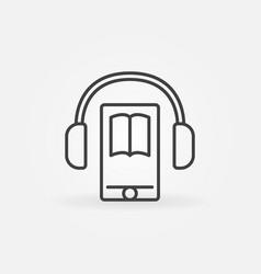 Audiobook in smartphone icon vector