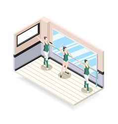Ballet training isometric design concept vector