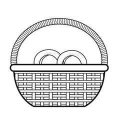 basket with pretzel product vector image