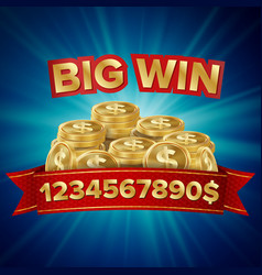 big win background for online casino vector image