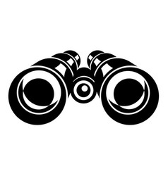 Binocular icon simple style vector