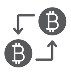 bitcoin transaction glyph icon money and finance vector image