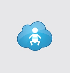Blue cloud baby icon vector image