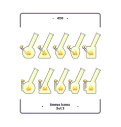 bongs icon set three vector image