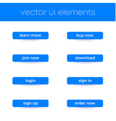 Buttons for web and apps ui elements vector