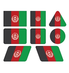buttons with flag of Afghanistan vector image
