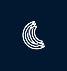 c letter moon crescent logo icon vector image