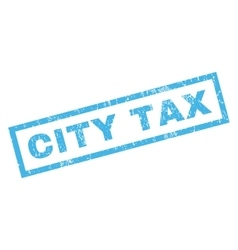 City Tax Rubber Stamp vector image