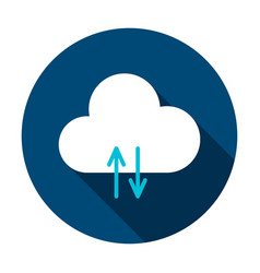 cloud data circle icon vector image