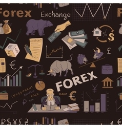 Colored finance forex hand drawing pattern vector image