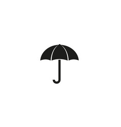 creative black umbrella logo design symbol vector image