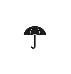 creative black umbrella logo design symbol vector image