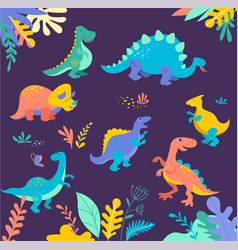 cute of prehistoric animals vector image