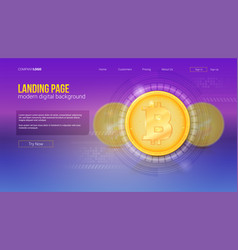 digital concept of landing page of website vector image