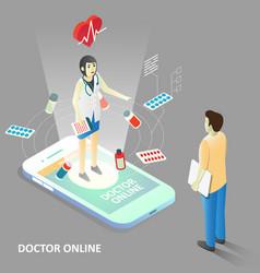doctor online isometric vector image