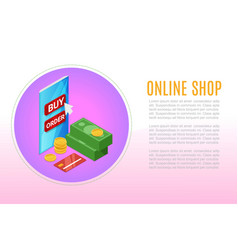 e-commerce and online shopping icons and elements vector image