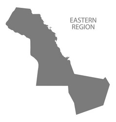 Eastern region saudi arabia map grey vector