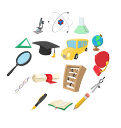 education cartoon icons vector image