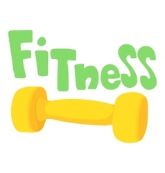 Fitness dumbbell icon cartoon style vector image